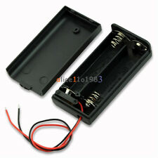 2PCS 2A Battery Holder Box Case with ON/OFF Switch and Cover for 2AA battery