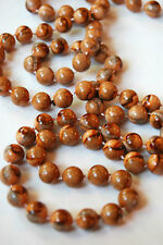 Costume Jewelry Beaded Necklace, Brown and Tans, Fashion, Beads