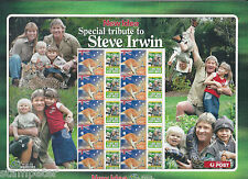 2003 New Idea Special Tribute to Steve Irwin - Australia 50c & tab sheetlet