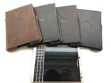 Leather Pocket Case for BlackBerry Passport Silver Edition - Black or Brown