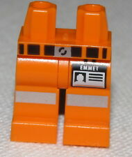 LEGO NEW CONSTRUCTION WORKER LEGS PANTS EMMETT THE LEGO MOVIE WITH ID