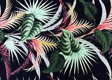 Bark Cloth Fabric Patio Palm by Michael Miller 4 yds 2003 Retro Hawaiian Print
