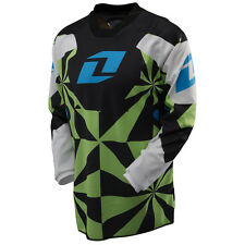NEW ONE INDUSTRIES CARBON HYPNO GREEN  JERSEY MX ATV BMX YOUTH KIDS  SMALL S