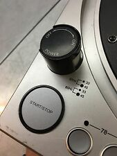 Stanton STR8-80 turntable Start Stop Button, ON-OFF Switch and strobe light