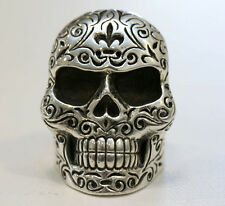 King Baby X Large Sterling Silver Mens Skull Ring 10  $1100