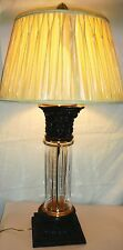 WILDWOOD ROCKY MOUNT - CRYSTAL/GLASS COLUMN TABLE LAMP