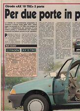 SP55 Clipping-Ritaglio 1987 Citroen AX 10 TRE 5 porte Per due porte in più