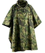WATERPROOF WATERPROOF MILITARY PONCHO camo army smock jacket bivi basha shelter