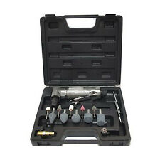 "15PC 1/4"" 6mm PRO ANGLED 90 DEGREE ANGLE AIR DIE GRINDER TOOL & STONES KIT SET"