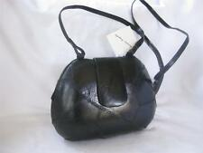 Vintage genuine Frogskin Philippines Black clam shell Clutch / Shoulder Bag NWT!