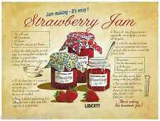JAM MAKING Receipe Tin Sign Shabby Chic Signs Vintage Retro Tin Sign 15x20cm