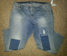 Old Navy Rockstar Jeans, size 26, mid-rise, patches on front, NWT
