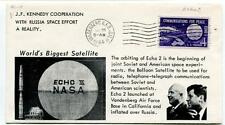 1964 Echo II NASA World's Biggest Satellite Vandenberg J.F. Kennedy Cooperation