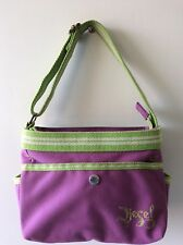 DIESEL purple and green small canvas bucket style underarm shoulder bag