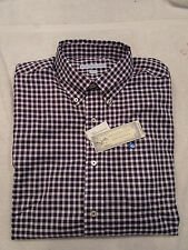 Southern Tide Purple & White Gingham Check Skipjack Sport Shirt NWT M  $99.50