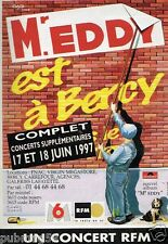 Publicité advertising 1997 Concert Eddy Mitchell à Bercy