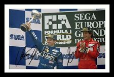 DAMON HILL & AYRTON SENNA AUTOGRAPHED SIGNED & FRAMED PP POSTER PHOTO