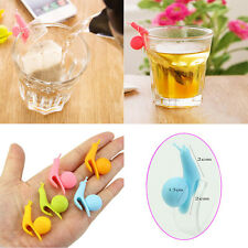 5pcs Cute Snail Shape Silicone Tea Bag Holder Cup Mug Candy Colors Gift Set CCCC