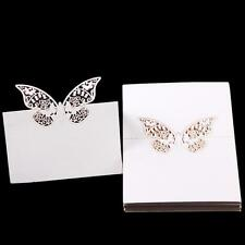 50pcs Butterfly Cut Table Place Card Name Number Wedding Party Decor