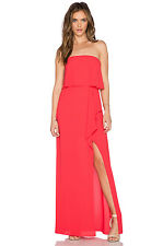 NWOT BCBG MAXAZRIA Felicity Strapless Slit Gown Dress Lipstick Red Size 2