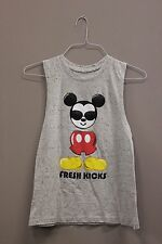FRESH KICKS WITH PICTURE TANK TOP T-SHIRT..DISNEY..SIZE: KIDS SMALL..A.D.NEW