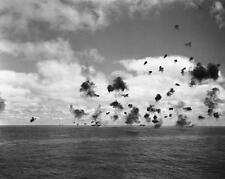 WWII B&W Photo Battle of Midway USS Yorktown  WW2  / 7079  NEW