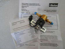 New Parker Gold Ring 3611899C2 Solenoid Valve, 12v DC