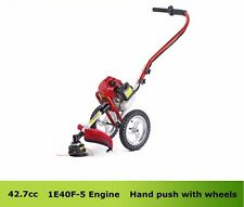 43cc Gasoline Hand Push Wheeled Brush Cutter portable cutter saw 1.47KW/7500rpm