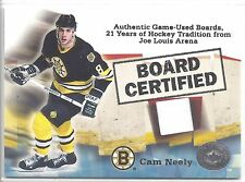 2001-02 Fleer Greats of the Game Cam Neely Board Certified Relic