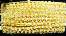 "Daisy trim Lace 1/2"" Daisy Yellow & White selling by the yard"