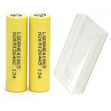 2 Of LG HE4 IMR 18650 Battery 3.7V Rechargeable 2500mAh 35A Flat Top High Drain