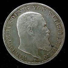 ALLEMAGNE - WURTEMBERG - 3 MARK 1908 F