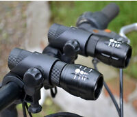 2PCS Mini Q5 LED Mountain Bike Bicycle Zoomable Flashlight Front Light Torch