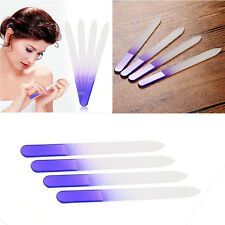 4x Durable Crystal Glass File Buffer Nail Art Files Manicure Device Pro Tool