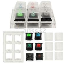 6 Clear Mechanical Keyboard Keycaps Switches Sampler Tester Kit for Cherry MX