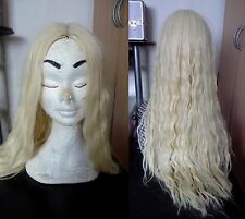 Perruque Wig Cosplay Costume Wavy Pale Blonde