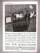 Mimeograph Copy Machine PRINT AD - 1937 ~~ A.B. Dick, mimeo