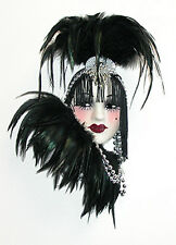 Unique Creations Lady Face Mask Wall Hanging Decor - Black