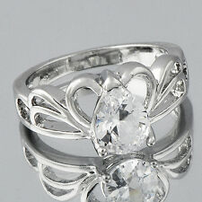 Size 7 CZ Silver Filled Free Shipping Womens Gold Rings wholesale jewelry lots