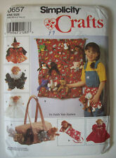 "9"" Beanie animals Bean bag tote organizer sleeping bag clothes pattern uncut 657"