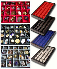 1 Glass Front Display Case Box 32 Red Victorian Button Badge French German US