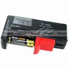 AA AAA C D 9V 1.5V Button Cell LCD Display Battery Level Checker Volt Tester