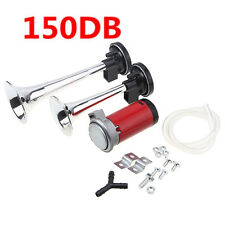 12v 150db Universal Car Truck Boat Train  Dual Trumpet Air Horn Compressor Kit#
