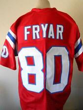 Irving Fryar unsigned custom stitched New England Patriots size 2xl red jersey