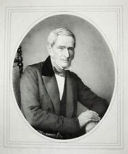 c1850 Dürbig Kaufmann Leipzig Lithographie-Porträt Schieferdecker