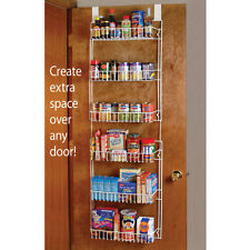 Over The Door Storage Rack XL Space-Saving Pantry Kitchen Home Organizer NEW 3C