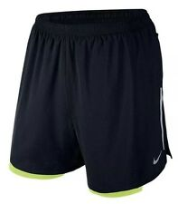 "Ret$70 NWT NIKE 5"" PHENOM 2-IN-1 Men's Running Shorts SZ Medium 683215-010 Black"