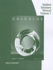 Calculus Student Solutions Manual Vol.1 Larson/Edwards (NEW) PA
