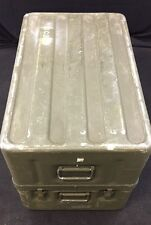 USGI Medical Instrument Chest Aluminum 31.5x19.5x21.5 Clam Shell Good Cond.
