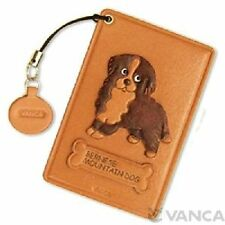 Bernese Mountain Dog Handmade Leather Commuter ID Pass Card HolderVANCA 26444